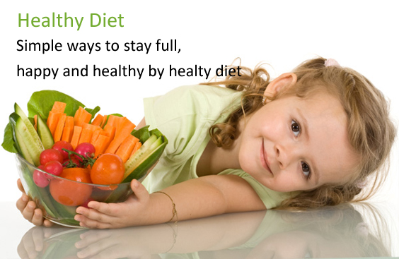 Simple ways to stay full, happy and healthy by healthy diet.